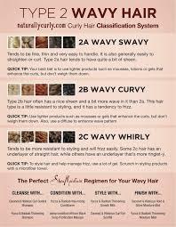 Type 2 Wavy Hair Chart Hair Chart Natural Wavy Hair