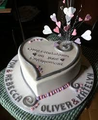 Heart Double Engagement Cake Engagement Invites Engagement