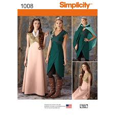 Simplicity Patterns Costumes Awesome Simplicity Pattern 48 Misses' Fantasy Costumes