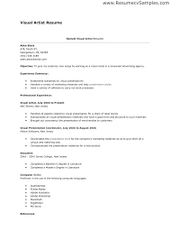 Art Resume Format Artist Resume Format Unique Artist Resume Template