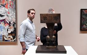 How to make modern art Youtube Couple Looks At Artwork By Parviz Tanavoli Pinterest What To Make Of Momas Stand On Trumps Travel Ban Artnet News