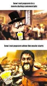 Meme Comic - Eating popcorn via Relatably.com