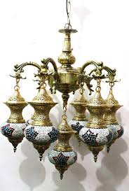 beautiful large antique brass finish moroccan chandelier