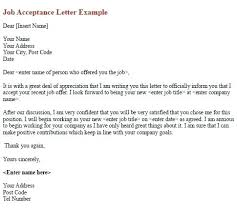 Confirming Email Sample Job Offer Acceptance Reply Employment