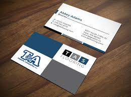 entry 171 for t a supply tas flooring business card design