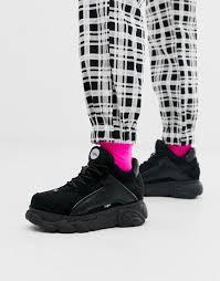 <b>Низкие</b> кожаные массивные кроссовки черного цвета <b>Buffalo</b> ...