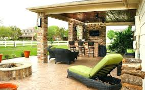 covered patio with fireplace outdoor kitchen ideas for patios plans screened porch cost