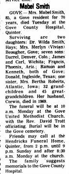 Mabel Smith Obituary - Newspapers.com