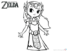 Princess Zelda Coloring Pages Stockware