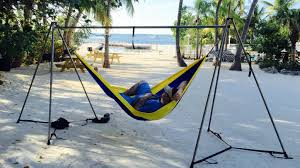 You can Hammock Anywhere now with the worlds strongest, easiest and  lightest portable hammock stand