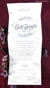 learn more about the new seeds of love seal and send wedding invitations that reduce waste