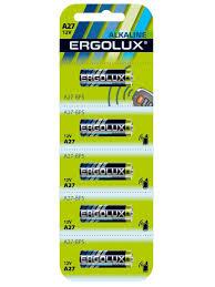 <b>Батарейки A27</b>, LR27, 5шт. Ergolux 8703666 в интернет ...