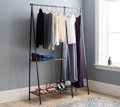 ... Antique Grey Modular Metal Wardrobe Rack Ideas: Glamorous Wardrobe Rack  Ideas ...