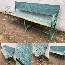 rare italian antique vintage bench outdoor garden rustic country