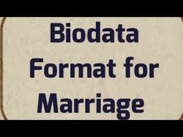 Bio Data Latest Format Hindu Indian Latest Biodata Format For Marriage