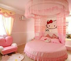 Round Bedroom Chair Bedroom Kitty Fence Pink Round Bed Air Conditioner Modern Chair