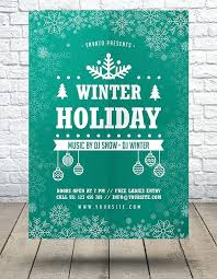 Holiday Flyers Templates Free Winter Holiday Event Flyer Template Free Definition Biology