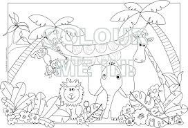 Jungle Scene Colouring Pages Jungle Coloring Pages Printable Free