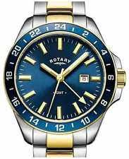 mens rotary watch two tone rotary mens havana gmt two tone blue gb05082 05 watch 18% off