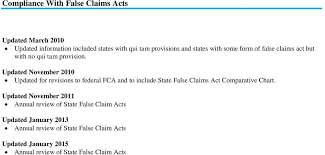 State False Claims Act Chart Laboratory Corporation Of America Holdings Business