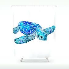 sea turtle shower curtain sea turtle watercolor art shower curtain thumbprintz sea turtle shower curtain