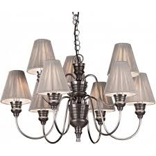 doreen large antique pewter ceiling pendant silver string shades