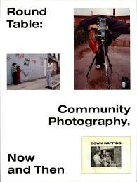 a round table discussion with several photographers discussing the theme of community photography from photoworks collaboration issue topics address