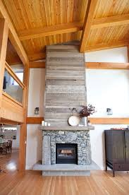 stone fireplace with reclaimed bargeboard finish contemporarylivingroom reclaimed wood fireplace r51
