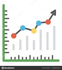 Trending Graph Line Graph Represents Trending Growth Evaluation Stock