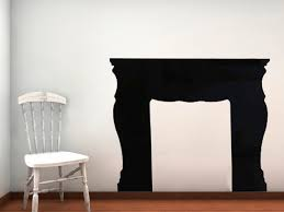 look morghan fireplace mantel vinyl wall decal 55 00 via