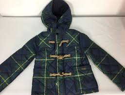 polo ralph lauren toggle jacket coat girls 4t hoo quilted tartan plaid