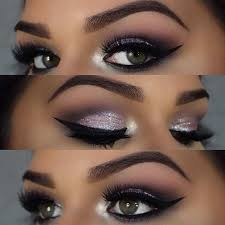glamorous light purple eyes