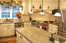 Granite Colors For Kitchen Using Two Colors Kitchen Cabinets Gorgeous Crystal Chandelier