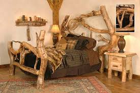 how to build rustic furniture. Rustic-log-bed-2 How To Build Rustic Furniture R