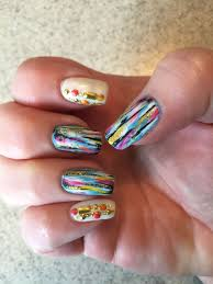 Nail Designs With Stripers Based On Flicka Nail Arts Design Base Orly Au Champagne