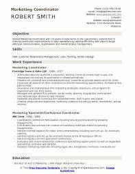 Value Statement Example For Resumes Marketing Coordinator Resume Samples Qwikresume