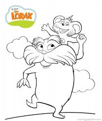 Small Picture Dr Seuss the Lorax Coloring Pages 7 Free Printable Coloring
