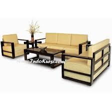 Jual Kursi Sofa Ruang Tamu Minimalis desain Kursi Sofa Jok yang nyaman  empuk yang berlapis lapis bahan kerangka Kayu Jati Perhutani warna Cat  Hitau2026