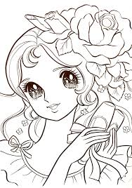 Shoujo Coloring Coloring Pages Adult