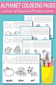 Free Alphabet Coloring Pages Preschool Printables Slap Dash Mom