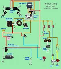 yamaha xj series minimum wiring diagram moto repair pinterest VW Bug Lights at Rebel Wire Harness Instructions Vw Bug Universal