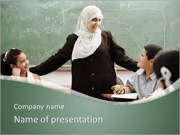 Teachers Powerpoint Templates Muslim Teacher Powerpoint Template Backgrounds Google Slides Id