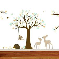 woodland nursery wall decals vinyl wall decal stickers swing tree set woodland nursery wall decals