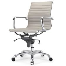 lexmod ribbed mid office. white vinyl office chair eames style ribbed executive low back in black lexmod mid