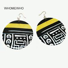 <b>Wood Africa</b> Black <b>Painting</b> Tribal Totem White Ancient Texts ...