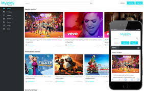Video Website Template Gorgeous My Play A Video Content Portal Flat Bootstrap Responsive Web
