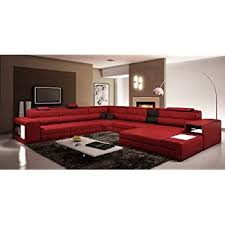 Red and black furniture Bedroom Vig Furniture 5022 Polaris Red And Black Bonded Leather Sectional Sofa Amazoncom Amazoncom Vig Furniture 5022 Polaris Red And Black Bonded Leather
