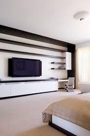 tv unit wall modern bedroom designs