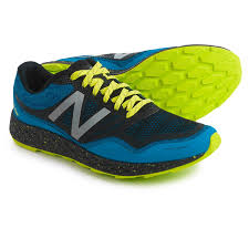 new balance blue. new balance fresh foam gobi trail running shoes (for men) in electric blue