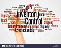 Word Inventory Inventory Control Word Cloud And Hand With Marker Concept On